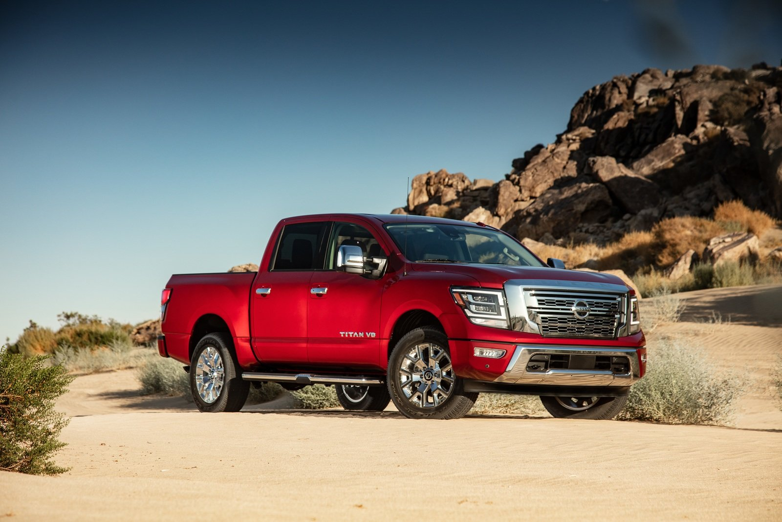 2020 Nissan Titan Debuts With More Powerful V-8; Diesel ...