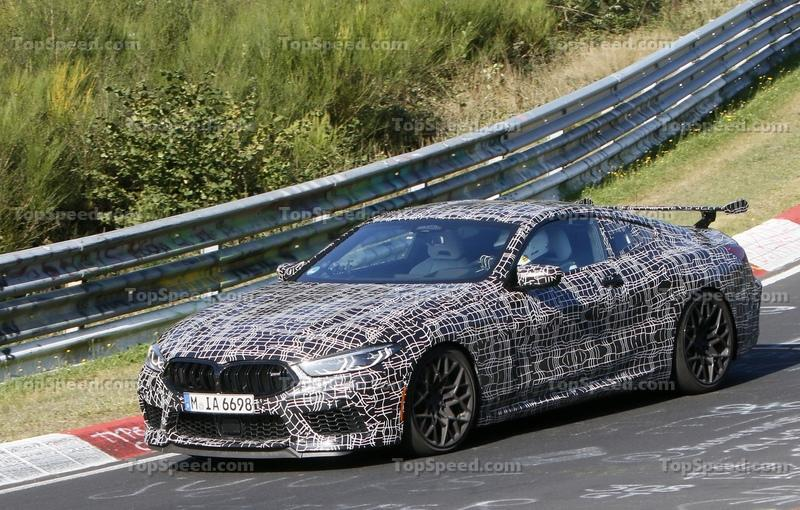 BMW M8 Caught Testing With Rear Wing