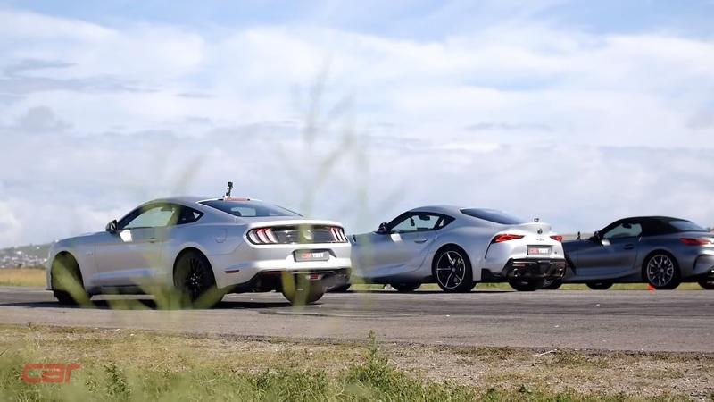 Ford Mustang GT vs. Toyota Supra vs. BMW Z4 - Who Wins?