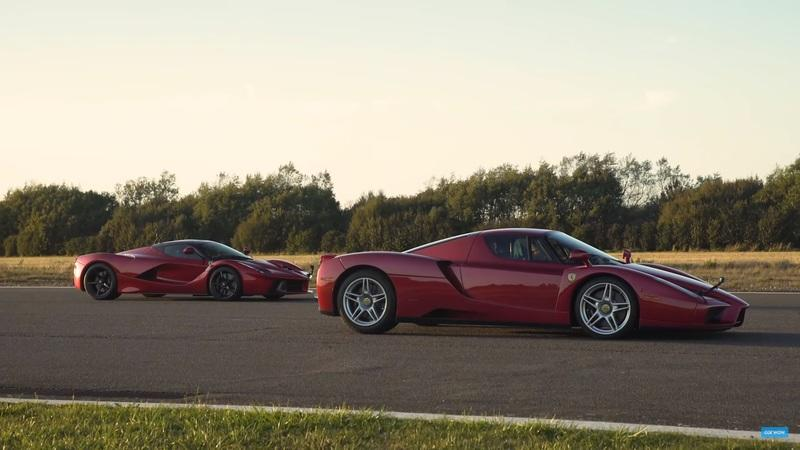 Generations Collide as the Ferrari Enzo Takes on the Ferrari LaFerrari