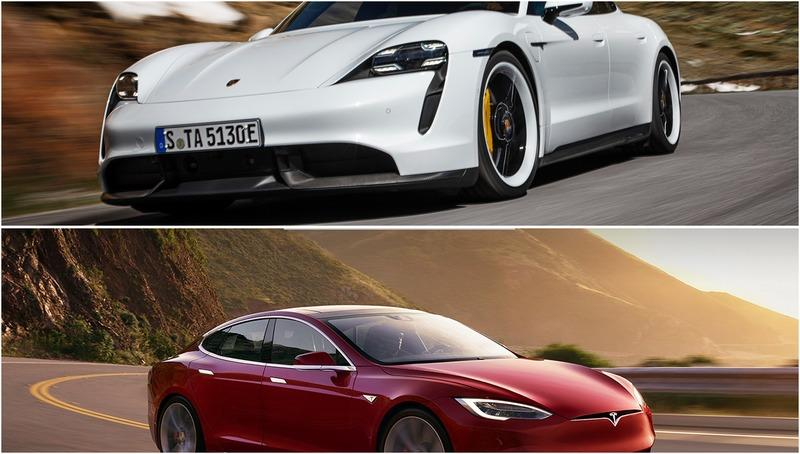 The Porsche Taycan Is Cool and All, But It's Not as Quick as the Tesla Model S