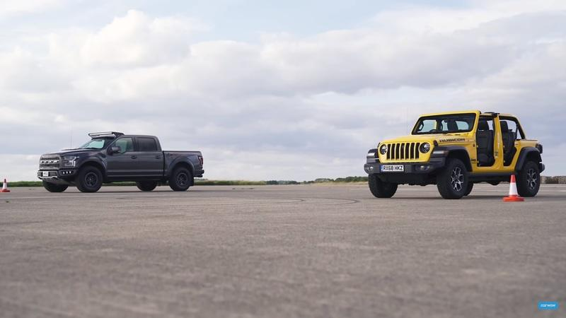 A Modded Ford F-150 Raptor and a Stripped Down Jeep Wrangler Head to the Drag Strip and We Didn't Expect the Outcome