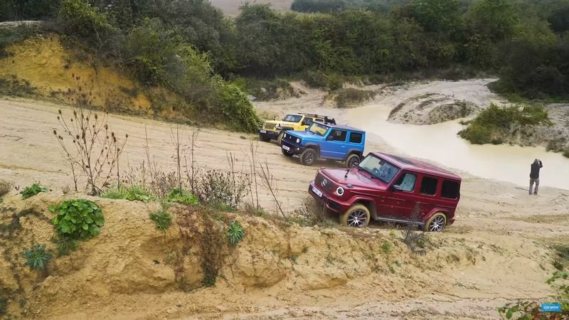 A Suzuki Jimny Takes on the Mercedes G-Class and Jeep Wrangler - Who Wins?