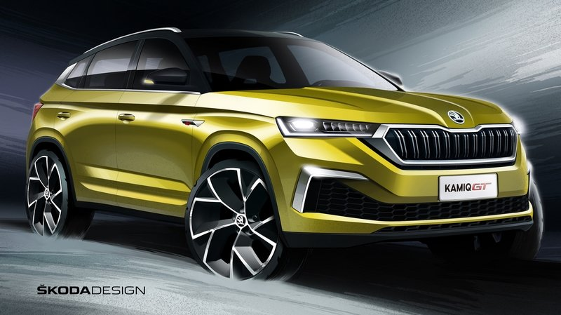 Skoda Previews Kamiq GT with Coupe-style roof and aggressive front end