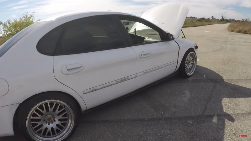 Someone Seriously Crammed a Toyota Supra 1JZ into a Freaking Ford Taurus