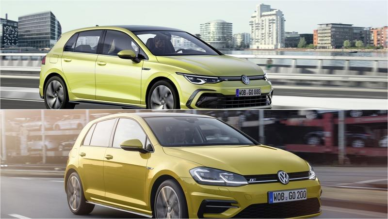 Volkswagen Golf Mk8 vs Mk7 - a design comparison