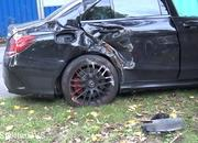 Watch an Idiot in a Mercedes-AMG C63 Go Full On Ford Mustang Into a Tree - image 866721