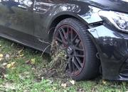 Watch an Idiot in a Mercedes-AMG C63 Go Full On Ford Mustang Into a Tree - image 866720