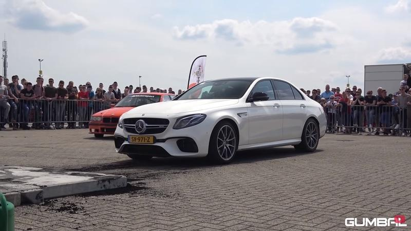 Watch How Fast a Mercedes-AMG E63 Can Eat Through A Pair of Tires