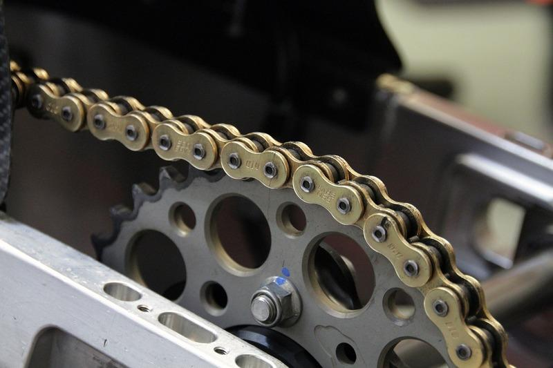 Maintaining the chain and sprocket of a motorcycle