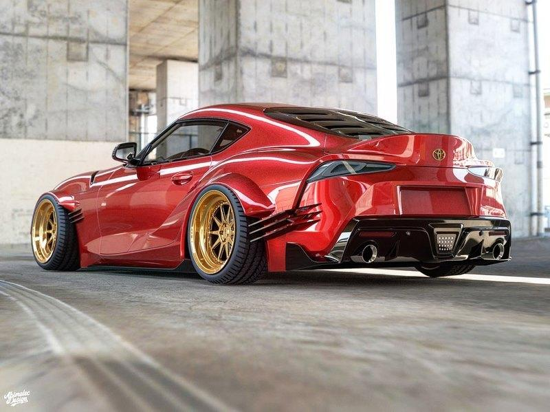 New Rendering Envisions a Real-Life Need For Speed Toyota Supra