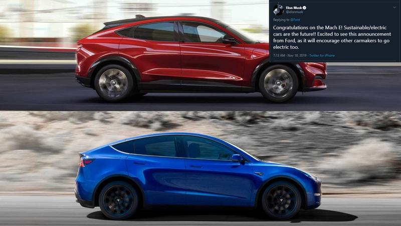 The 2021 Ford Mustang Mach-E Is a Carbon Copy of the Tesla Model Y, But What Does Elon Musk Think?