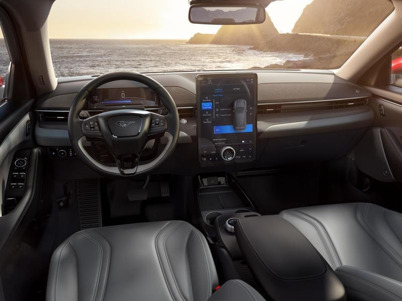 The 2021 Ford Mustang Mach-E Just Introduced the Ford Sync 4 Infotainment System Interior - image 872250