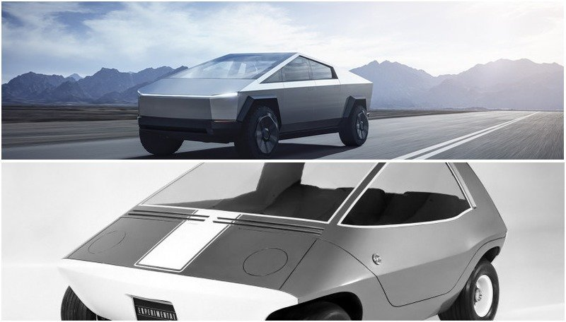 Tesla Model 3 >> The Tesla Cybertruck's polygonal design may be weird, but it's not the first EV with this shape