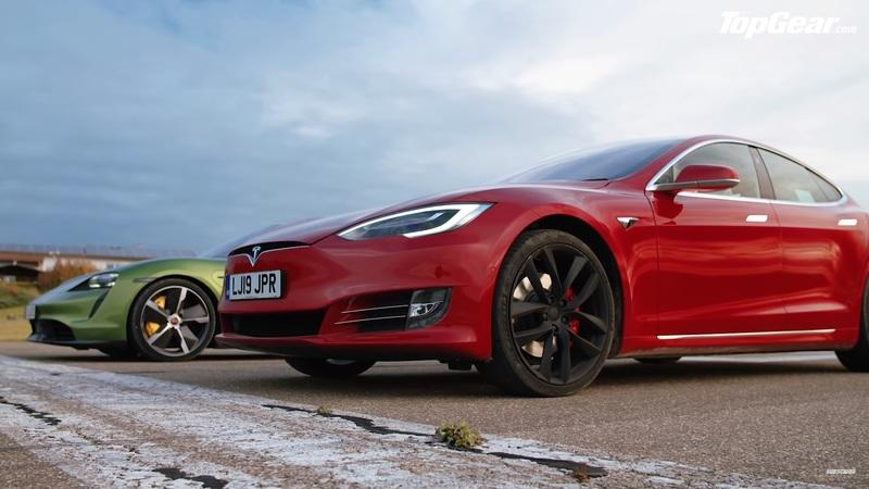 TopGear Drag Races the Tesla Model S Against the Porsche Taycan But the Results Are Controversial - image 869159