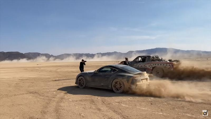 Watch a Toyota Supra, Dodge Demon, and a BMW E30 Go Head to Head in the Desert - image 871835