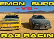 Watch a Toyota Supra, Dodge Demon, and a BMW E30 Go Head to Head in the Desert - image 871841