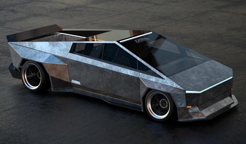 A New Wide-Body Tesla Cybertruck Rendering Proves That Elon Musks Creation Could Be Even Stranger