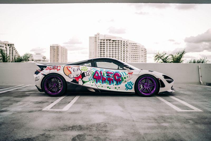 2019 Graffiti-Drawn McLaren 720S by Alec Monopoly