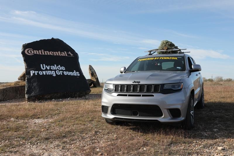 How Do You Make the World's Fastest Christmas Tree? Strap It on Top of a Hennessey-Tuned Jeep!