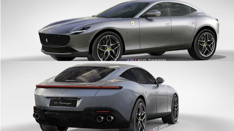 New Rendering Shows What the Ferrari Purosangue Would Look Like With Lots of Roma Styling