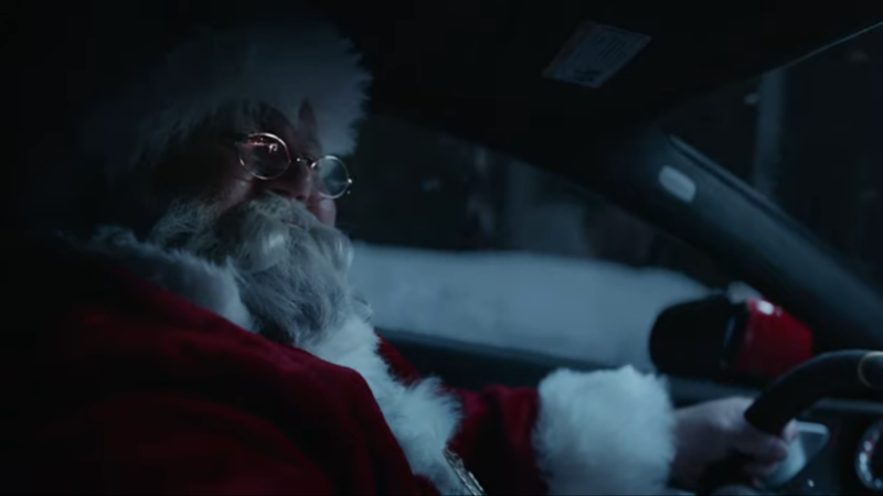Santa and Mercedes – It Seems to be a Theme, But Is This Really How Rudolph Got His Red Nose?