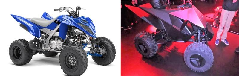 Tesla Electric ATV, is in fact a Yamaha Raptor knockoff