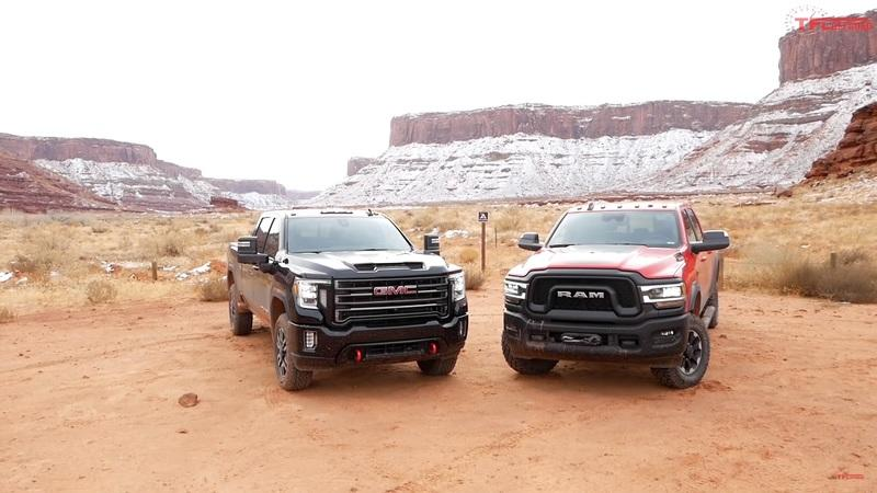 The 2020 Sierra AT4 Comes With Stronger Off-Road Specs, But Can It Beat The Ram Power Wagon In Its Own Yard?