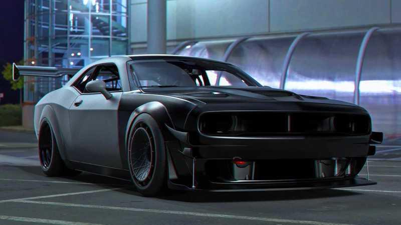 Track Day Rendering of a Dodge Challenger Hellcat Looks Like It's Straight Out of Need For Speed - image 878451