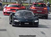 A McLaren P1 and Senna Pull Up to the Drag Strip and the Results Are Surprising - image 879796
