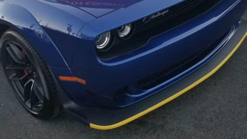 Dodge Is Changing the Challenger and Charger Splitter Guards From Yellow to Pink