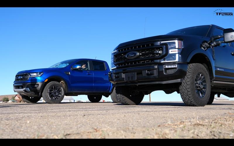 How Well Will The Ford Ranger FX4 Fare Against a F-250 Super Duty Tremor In A Drag Race?