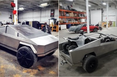 Someone's Building a Half-Scale Version of the Tesla Cybertruck
