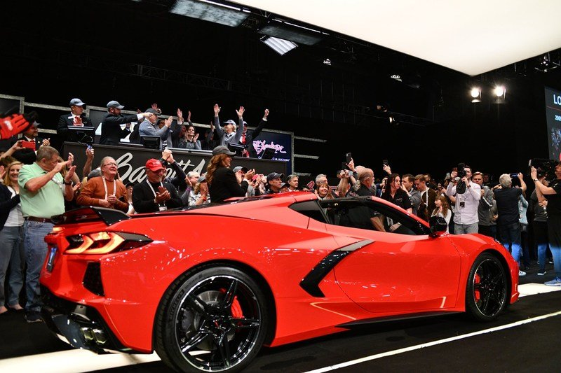 The First Production 2020 Chevy C8 Corvette Just Became the Fourth Most Expensive Vette Ever Sold at Auction