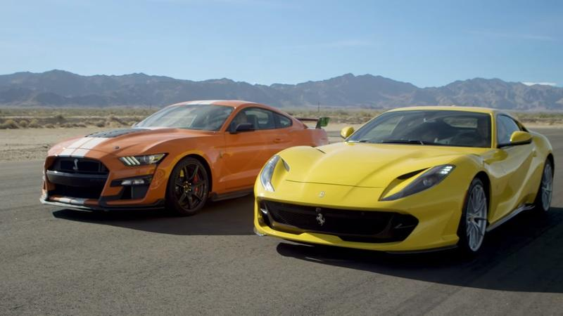 The Ford Mustang Shelby GT500 Just Proved Itself Against the Ferrari 812 Superfast and Porsche 911 GT3 RS: Video