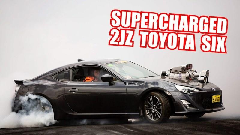 This Supercharged 2JZ-Swapped Toyota 86 Is Your Personal Burnout Jesus