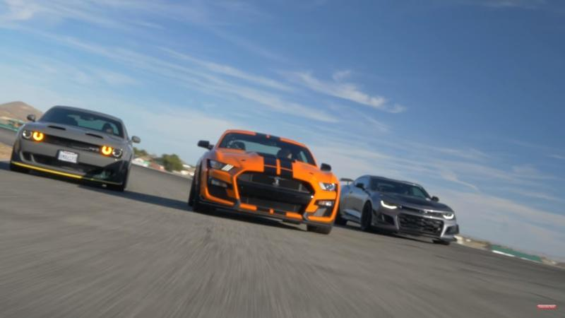Video: 2020 Mustang Shelby GT500 Races Camaro ZL1 1LE and Hellcat Redeye