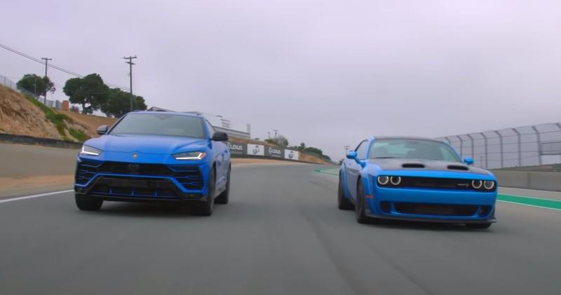 Wacky Races: Dodge Challenger Hellcat Battles Lambo Urus on the Track - image 882916