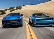 Wacky Races: Dodge Challenger Hellcat Battles Lambo Urus on the Track - image 882889