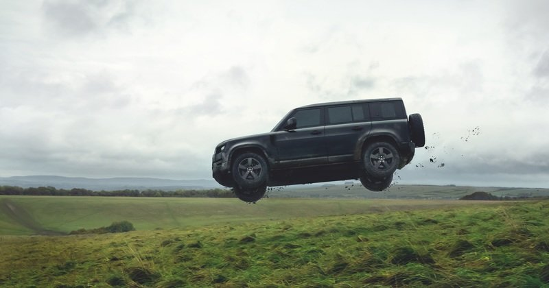 The 2020 Land Rover Defender Takes a Bashing In James Bond No Time To Die Rehearsals