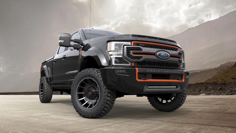 Harley-Davidson lends its flair to the Ford F-250 truck, courtesy the Fat Boy 30th Anniversary