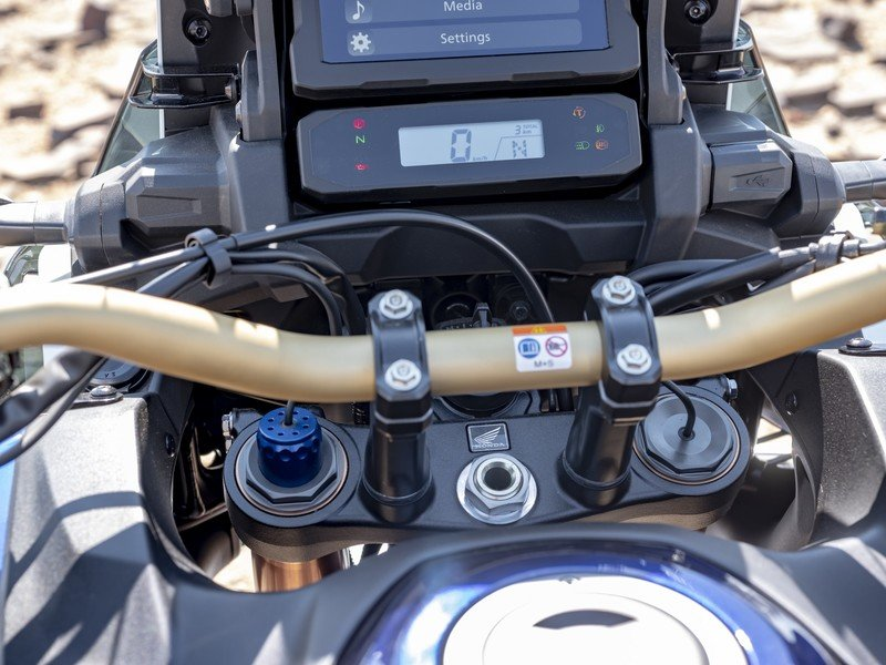 Honda will let you play with its 1100L Africa Twin's intimidating instrument console on a simulator