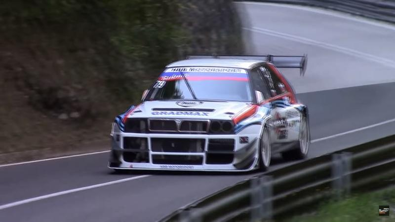 700-HP Lancia Delta Integrale Runs Hillclimbs Like It's on Rails