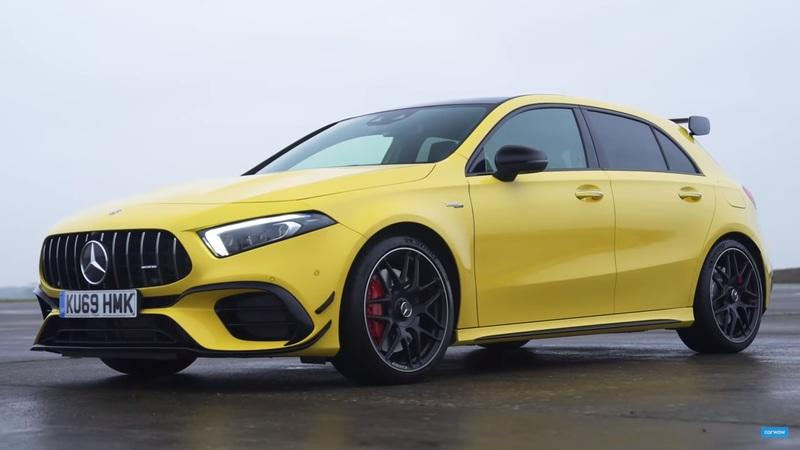 Mercedes-AMG A 45, Audi RS 3, and VW Golf R drag race debuts with drifting - image 885624
