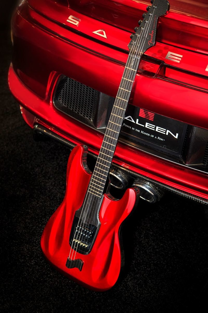 This Saleen-inspired Fender Stratocaster is a carbon-fiber work of art