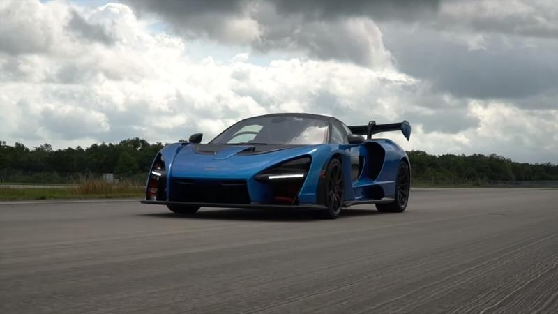 Watch a McLaren Senna Almost Take Flight on an Old Space Shuttle Runway