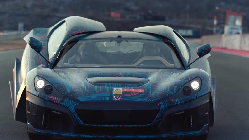 Watch the Rimac C Two Deploy Its Active Aero on the Track - image 888109