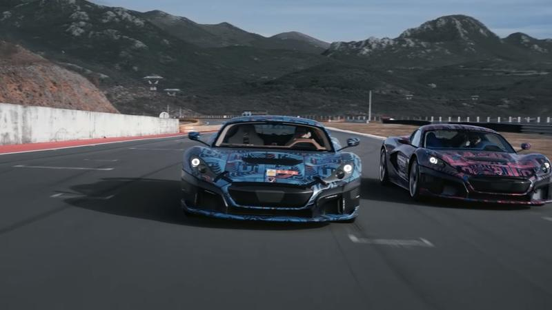 Watch the Rimac C Two Deploy Its Active Aero on the Track