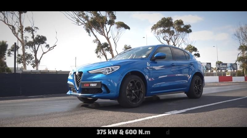 You'd Think the Jeep Trackhawk Could Destroy the Stelvio QV in a Drag Race