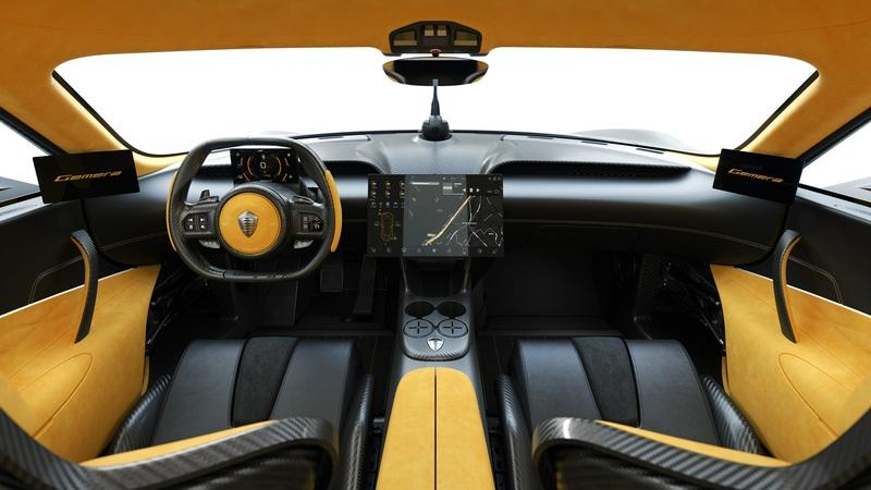 Cupholders? The Koenigsegg Gemera is the Most Practical Hypercar Ever Built Interior - image 890071